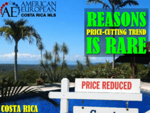 Why is a price-cutting trend rare in Costa Rica real estate?