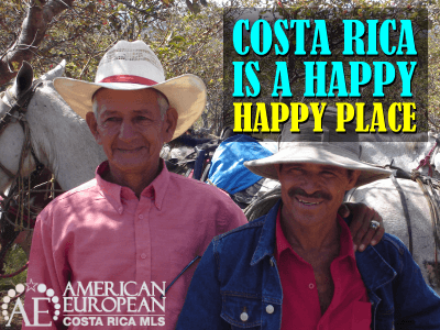 Costa Rica is a happy, happy place