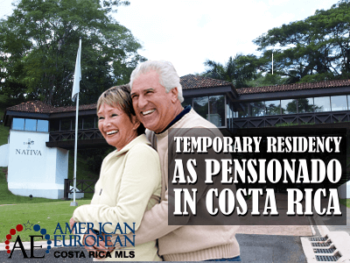 Temporary residency as a Pensionado