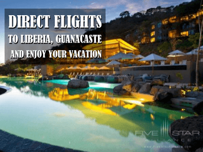 Direct flights to Liberia Guanacaste great for North Pacific Tourism