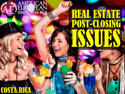 Post Closing Issues by Attorney Roger Petersen
