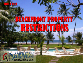 Costa Rica Beach front property restrictions