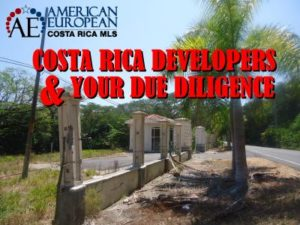 Costa Rica Developers and your due diligence