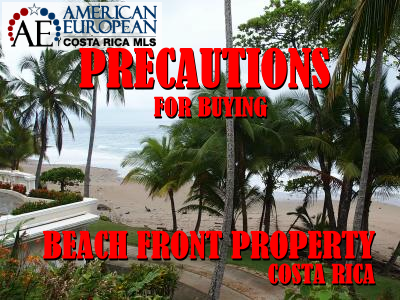 Precautions for buying Costa Rica Beach Front Property