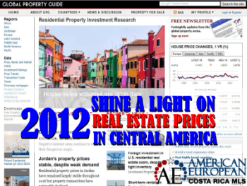 Shining a light on 2012 real estate prices in Central America