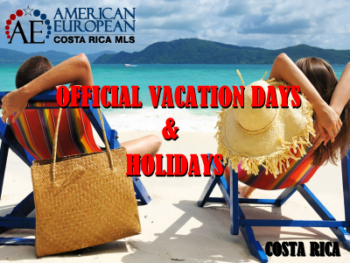 Official Vacation Days and Holidays in Costa Rica