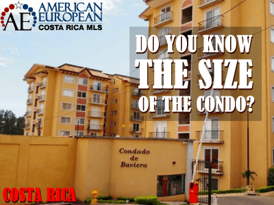 Do you know the size of the Costa Rica condo you are buying?
