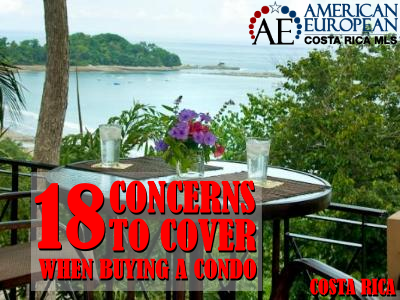 Before you buy condo Costa Rica you should cover 18 concerns
