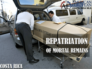 Repatriation of the deceased from Costa Rica
