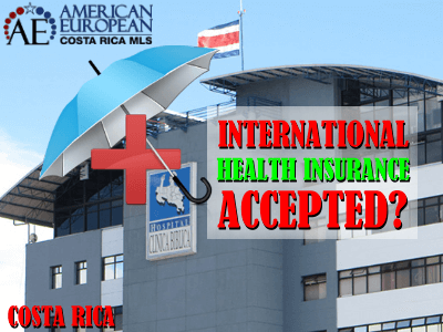 International Healthcare insurances accepted in Costa Rica