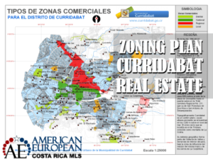 Zoning plan for Curridabat