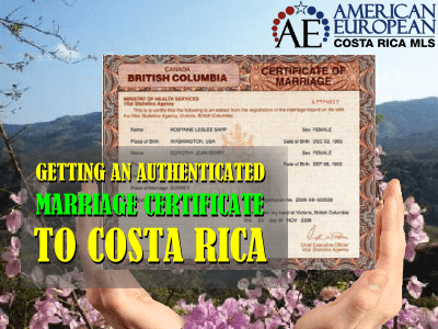 Getting a Canadian Authenticated Marriage Certificate