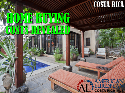 What are the costs involved when buying a home in Costa Rica?