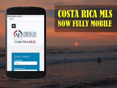 Costa Rica real estate MLS is fully mobile for your convenience