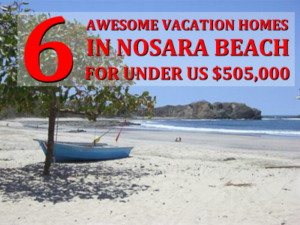 6 awesome vacation homes in Nosara beach for sale