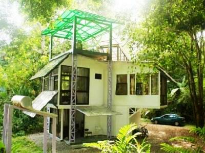 Caribbean Living In Costa Rica. The Glass Tree House In Playa Chiquita