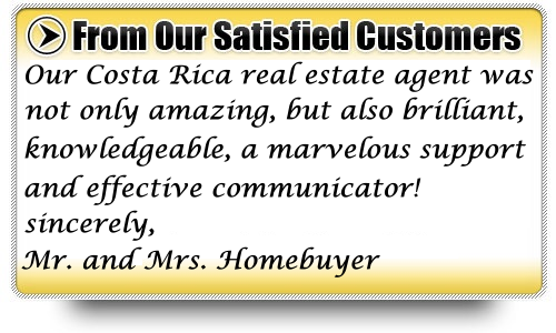 Costa Rica real estate testimonials and customer reviews