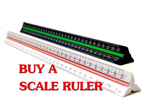 Get yourself a scale ruler first