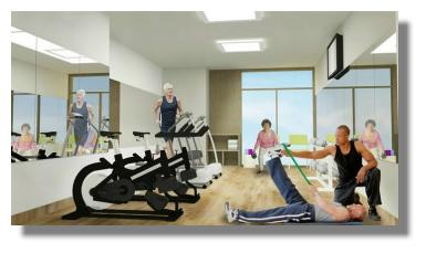 Assisted Living in Costa Rica with gym facilities