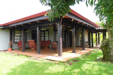 Sarchi remodeled home with over an acre of flat fenced land for sale and for rent.