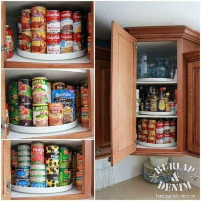 use a Lazy Susan in your kitchen cabinets in Costa Rica