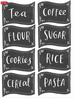 Use kitchen and pantry labels