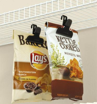 Hang bags of Chips and Pretzels