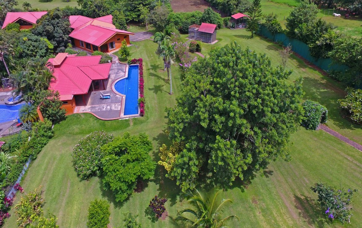 One of a kind fabulous luxury estate for sale in Alajuela, built with the finest materials available. Only minutes from the Los Reyes golf course.