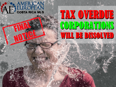 Tax overdue corporations will be dissolved