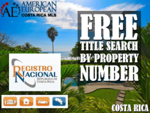 How to do a title search by property number