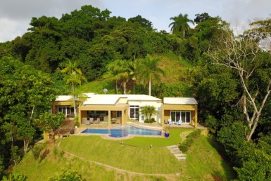 Well appointed contemporary Dominical ocean view home on 5 acres
