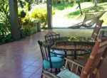 Almost 6 Acres of Lush Landscaping, Magnificent Views with 2 Homes in Atenas - porch guest house