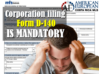 Requirement Corporation filing Form D-140 is mandatory