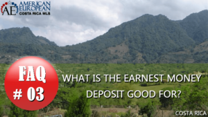 Real Estate FAQ | What is an earnest money deposit good for?