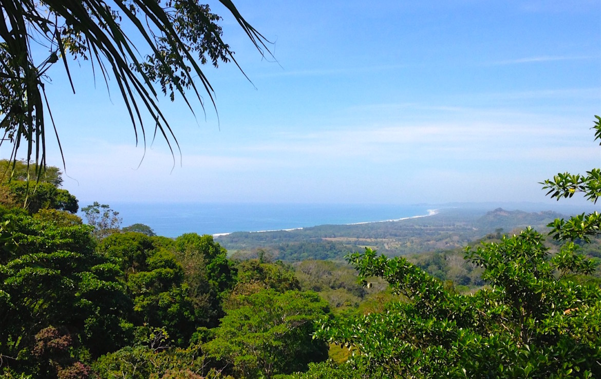Over 4 acres Ocean View Lot near Dominical Beach price reduced