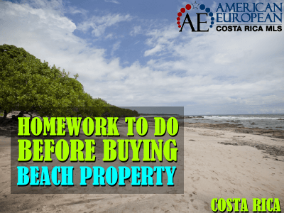 How to do your homework before buying beach property