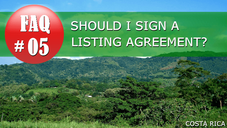Real Estate FAQ | Should I sign a listing agreement?
