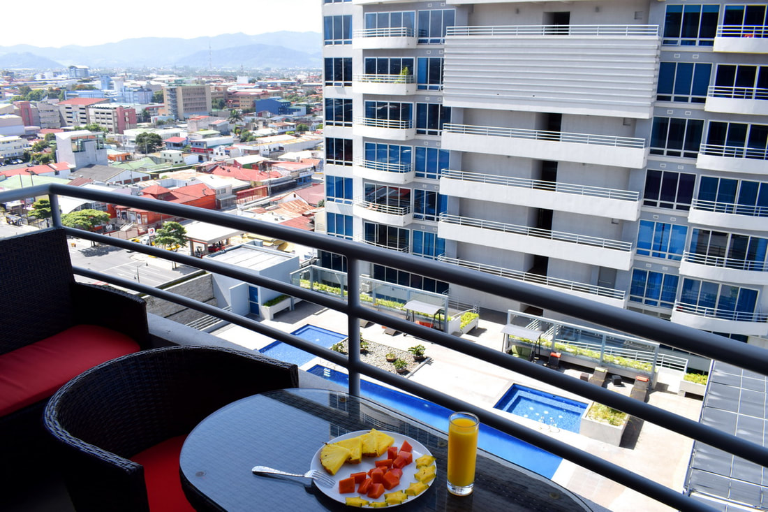 Furnished Torres del Paseo Colon 1 bedroom condo for rent