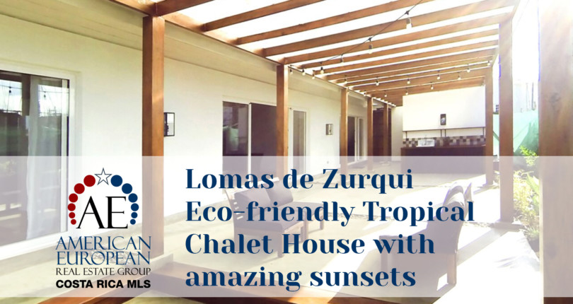 Lomas de Zurqui Eco-friendly Tropical Chalet House with amazing sunsets