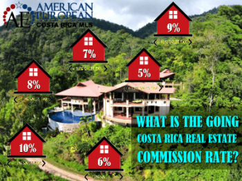 What is the going real estate commission rate in Costa Rica?