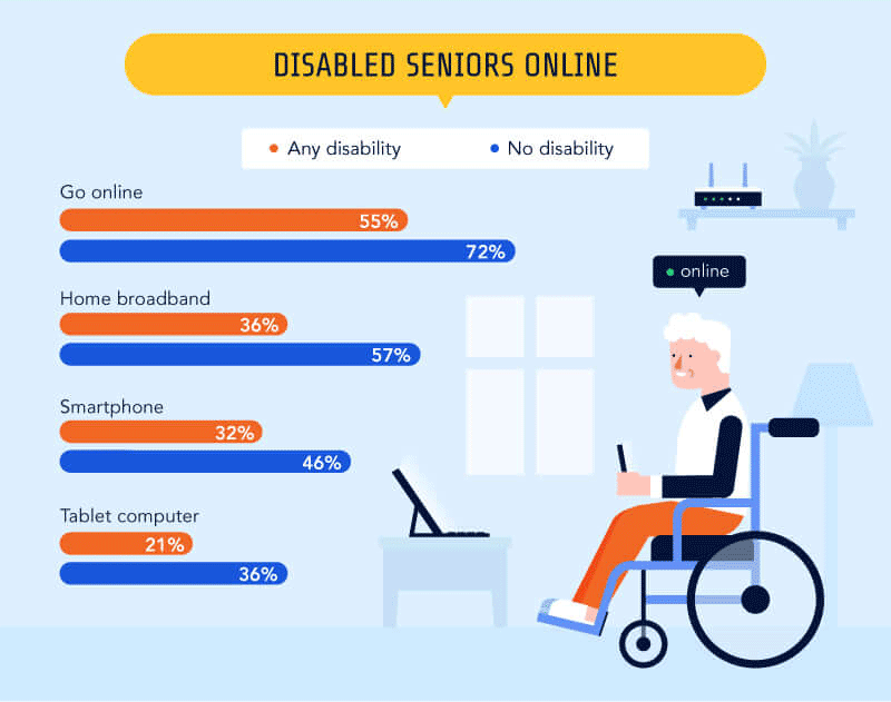 The Elderly and the WWW - Disabled Seniors Online