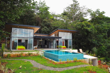New Dominical Oceanview Vacation Home with 3-sided infinity pool
