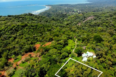 Uvita Whales Tail View lot with forest reserve