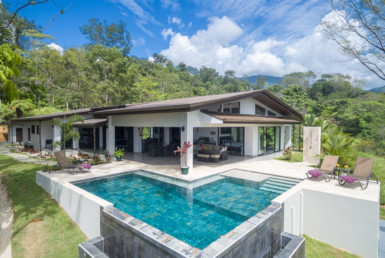 Uvita single story luxury view home with pool