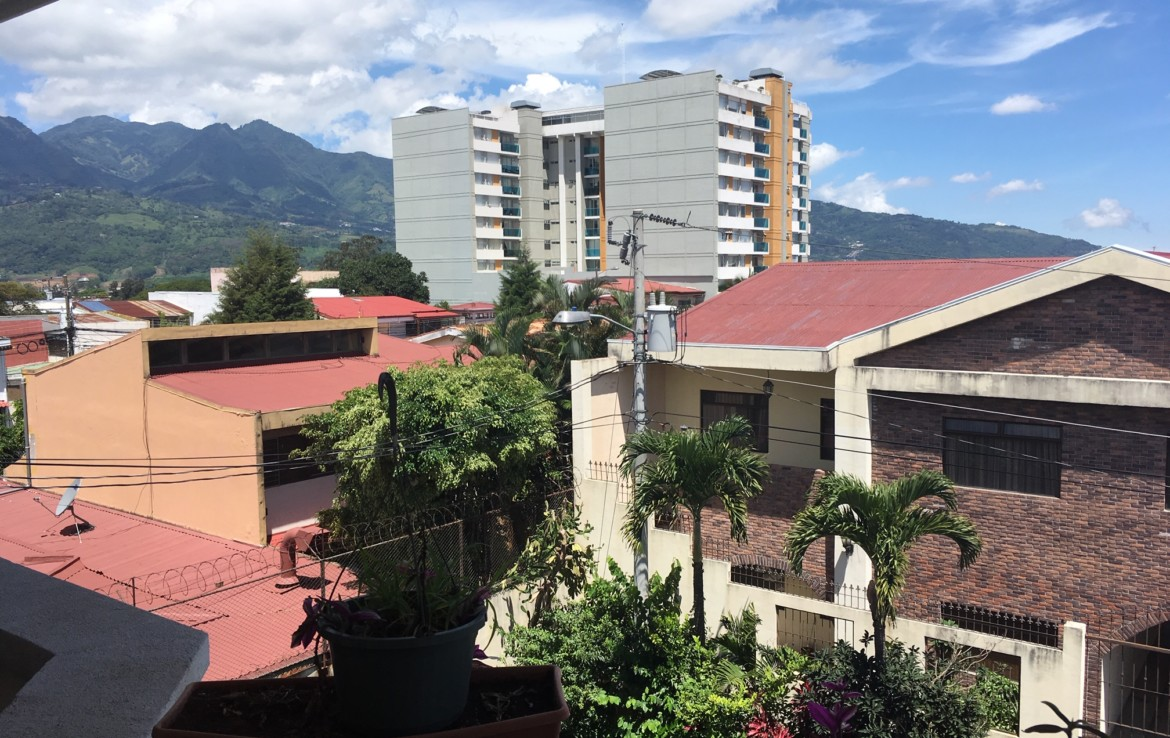 La Sabana San Jose top floor 2 BR end view condo