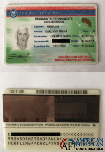 Is Resident Registration of home address necessary in Costa Rica?