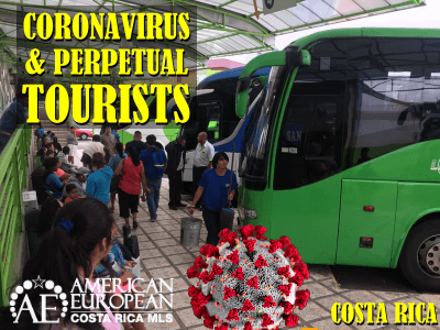 How does Coronavirus interfere with the perpetual tourist border run?