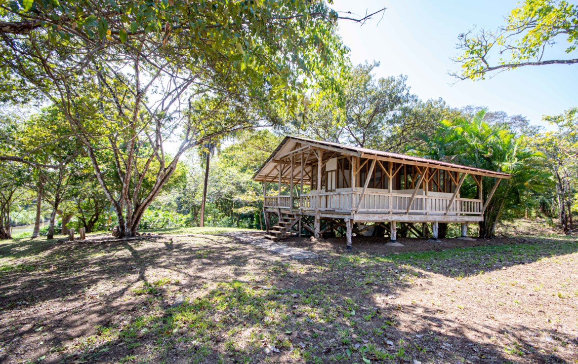 Playa Carrillo Riverside Jungle Property with a Small Cottage