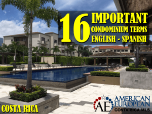 16 Important Condominium Terms English - Spanish