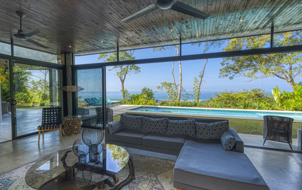 Stunning Ocean and Coastal View 3 BR Dominical Residence